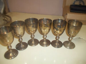 VINTAGE BRASS /silver plated...GLASSES