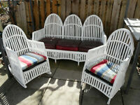 Antique rattan porch furniture