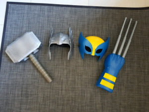 Thor and Wolverine toys