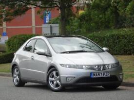 Honda Civic 1.8i-VTEC ES 2007 +PAN ROOF +FSH +WARRANTY +12M MOT +2 KEYS +CLEAN