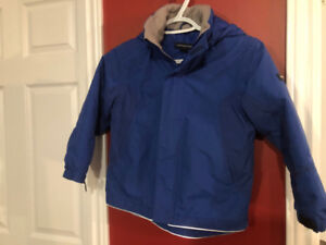 Land's End Boy's Blue Winter Coat - Size 5-6 - Great condition!