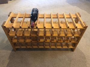 Wooden Wine Rack holds 40 bottles