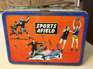 1957 OHIO SPORTS AFIELD METAL LUNCH BOX London Ontario image 1