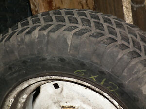 LAWN TRACTOR TIRES  23 X  8.50 X 12  ON RIMS [2]