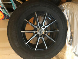 235/70 R16 Four summer Tires on rims