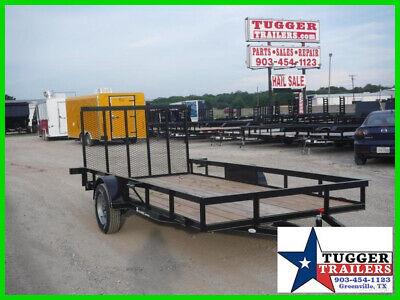 77X14 14Ft Flatbed New Utility Open Ramp Steel Gate Toy ATV UTV Side Trailer