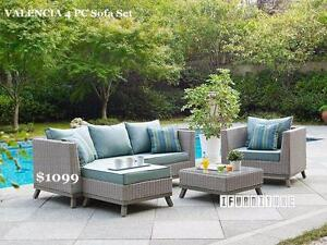 ifurniture Trail Opening Sale --VALENCIA 4 PC Patio Sofa Set * Aluminum Frame