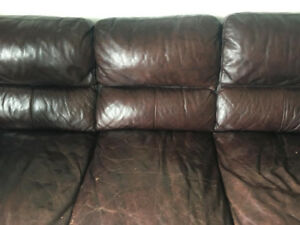 Super comfortable 3-seater leather couch
