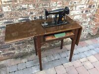 Old Singer Sewing Machine Wooden Cased Table - Can Deliver