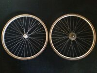 Front and Rear Weinmann Rm19 27x1 1/4 Wheels With Tyres and Inner Tube