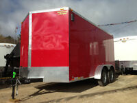 7x14 and 7x16 V-nose Enclosed Cargo Trailers
