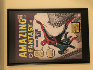 Spider-Man Classic Cover Bordered Wall Art