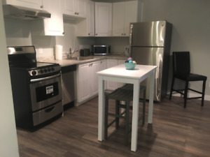 Beautiful NEW Exec fully furnished 1 bdrm  apt. 0 lease.shrt trm