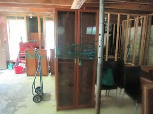 MAKE ME AN OFFER!!  2 IKEA Bookcases with Glass Doors.