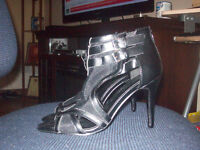 leather guess purse, leather nine west heels and more