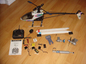 RC LARGE 1/8 NITRO HELICOPTER ROLLING CHASSIS PLUS MORE