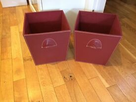 2 storage boxes.