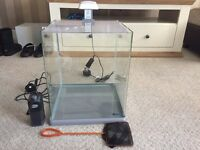 Glass fish tank 40 litres with box and accessories