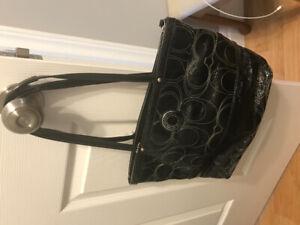 Coach black patent purse