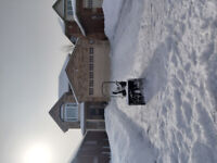 Last minute snow removal!