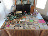 vintage gijoes - complete figures, vehicles and file cards 82-92