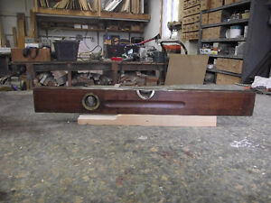 Antique Stanly Carpenters Level Rosewood with Brass binding London Ontario image 2