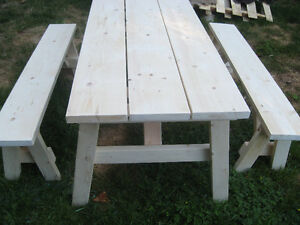 Table and Benches 6t (Free Delivery)