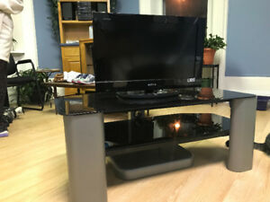 Tv and glass stand