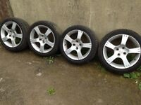 4 X 100 X 16 alloy wheels with 205/45/16 TYRES