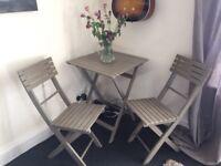 Indoor/Outdoor Garden Table and Chair Set
