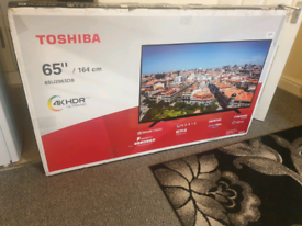 TV 65INCH TOSHIBA BRAND NEW SMART 4K ULTRA HD HDR WITH BLUETOOTH ALEX