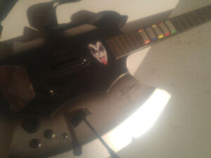 Guitare special edition Gene Simmons du groupe Kiss ps2 ps3