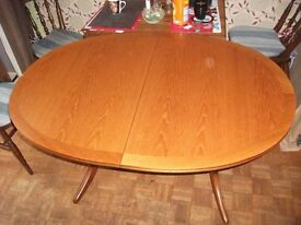 Oval shaped Dining table and 4 x chairs