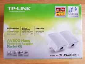 NEW TP-LINK AV500 Nano Powerline Starter Kit