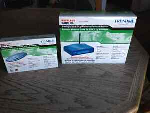 Trendend wireless router and USB adapter.  New still in box