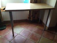 Light wood effect desk - IKEA