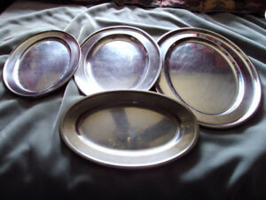 VINTAGE ROSTFREI STAINLESS STEEL SERVING PLATTERS