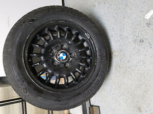 BMW 205/60R15 Rims with rubber