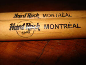 Hard Rock Cafe Montreal Drum Sticks