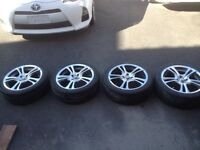 "17"" 4x100 Fast Virus Rims with 205 45 R17 Kohmo Tires"