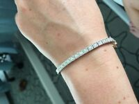 *LOST* diamond bracelet white and rose gold Antique