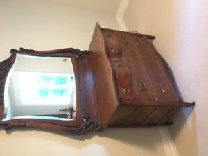 Antique bedroom set. Needs refurbishing. I am looking for $500.