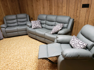 Brand New Grey Sofa, Loveseat and Chair