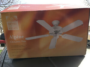 "42"" 5 blade curling fan New in box"
