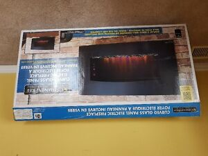 Brand New Curved Electric Wall Fireplace.