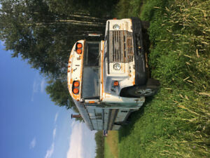 REDUCED! Sled camp, camperized gas engine school bus