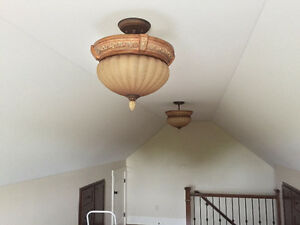 Two ceiling light fixtures for sale