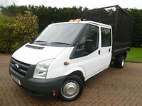 2013 Ford Transit T350 2.2TDCi LWB DOUBLE CAB CAGED TIPPER