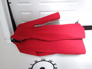 100% Alpaca Coat Reversible, Red, Black Kingston Kingston Area image 3