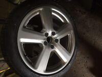 Audi A6 alloy and tyre
